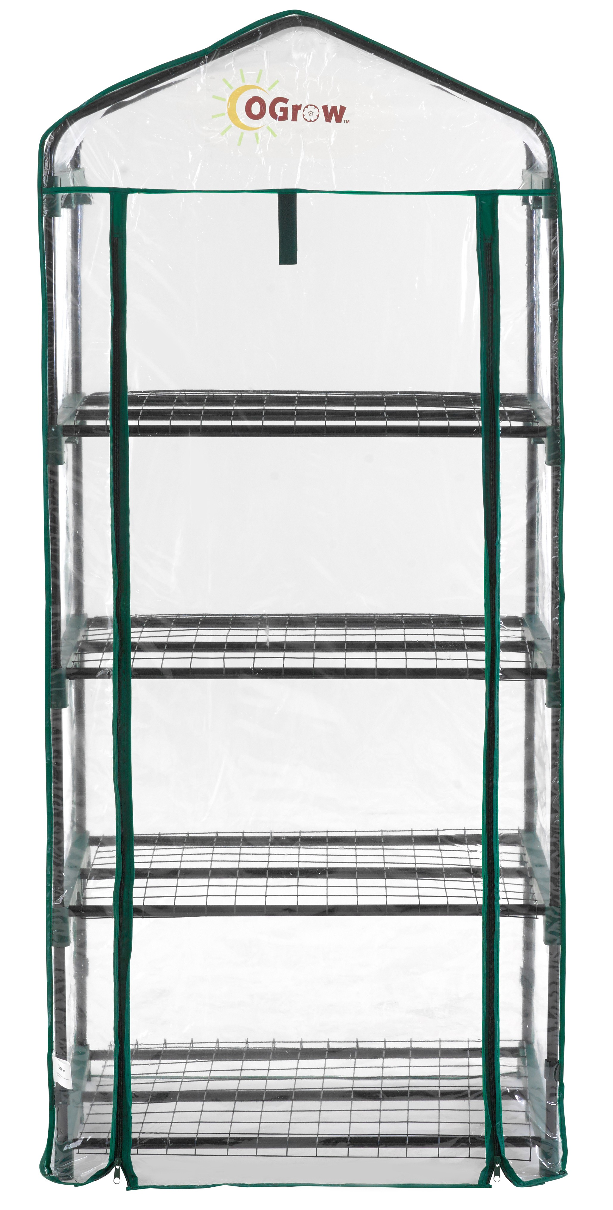 "Ogrow Small Portable Greenhouse - 4 Tier Mini PVC Garden Greenhouse - 62"" H x 27"" W x 19"" D - Clear"