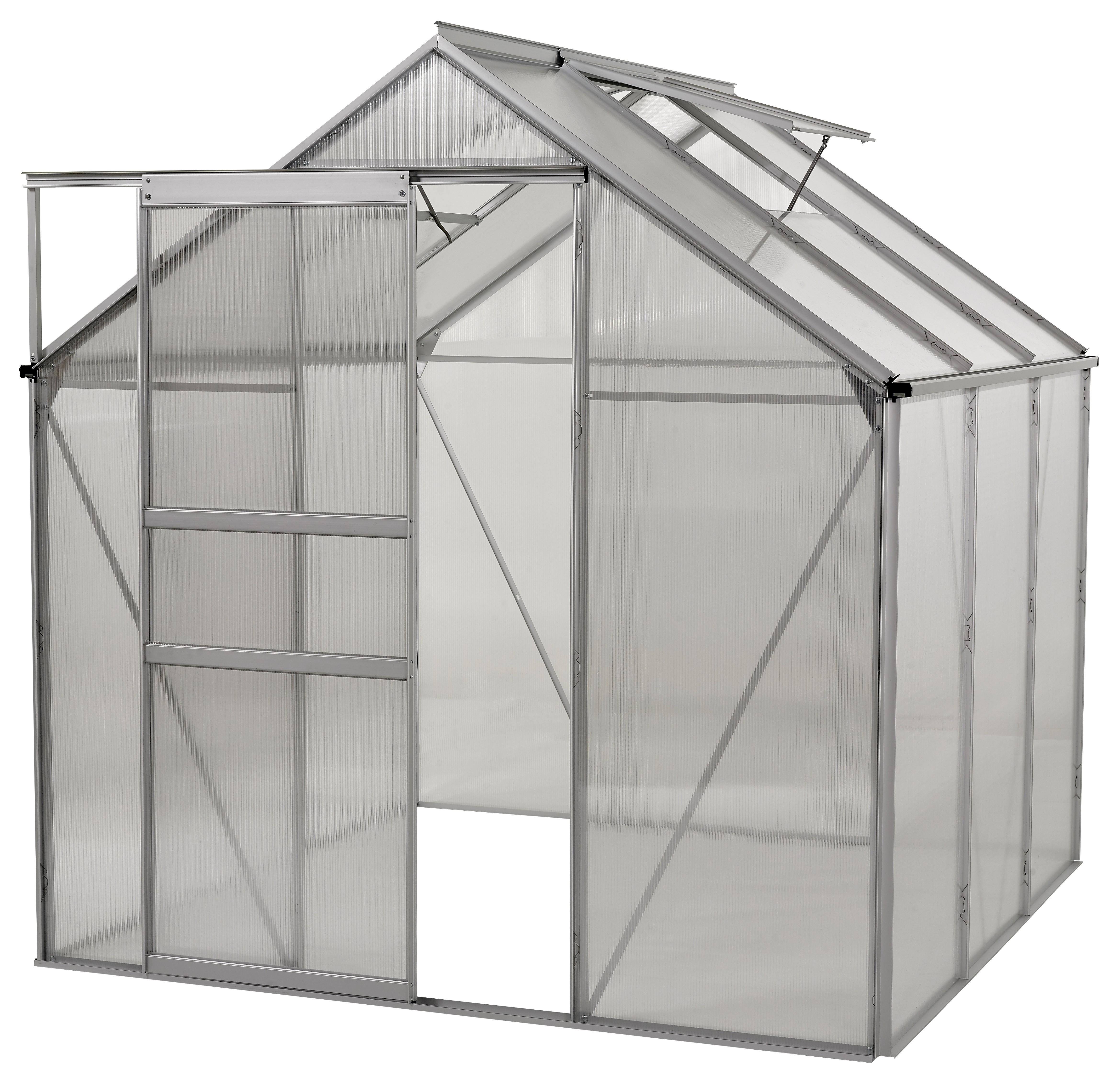 Ogrow 6x6 Ft. Walk In Greenhouse - Large Heavy Duty Aluminium Lawn & Garden Grow House - 36 Sq. Ft / 3.34 Mq - Clear