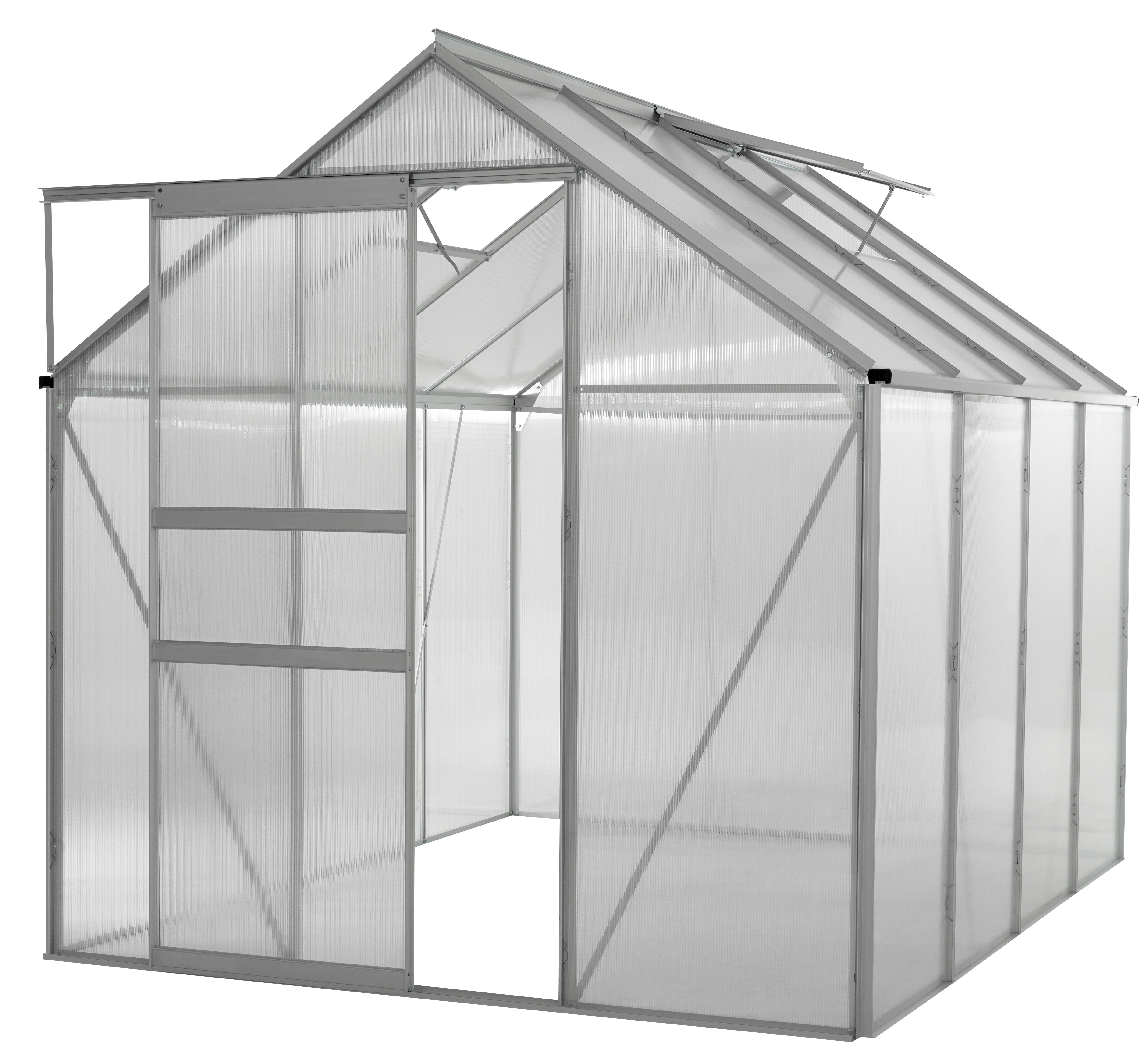 Ogrow 6x8 Ft. Walk In Greenhouse - Large Heavy Duty Aluminium Lawn & Garden Greenhouse - Clear