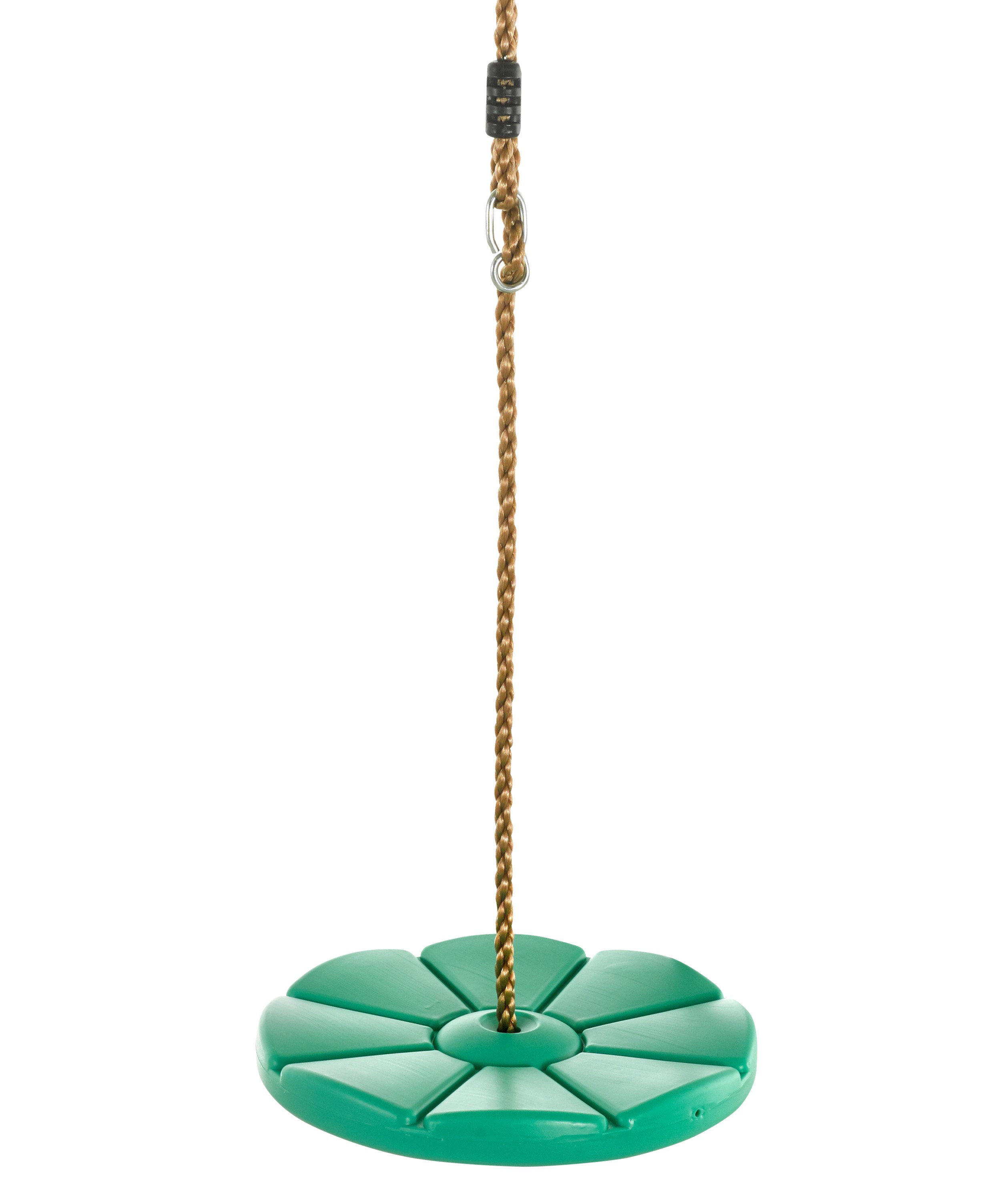 Swingan - Cool Disc Swing with Adjustable Rope - Fully Assembled - Green
