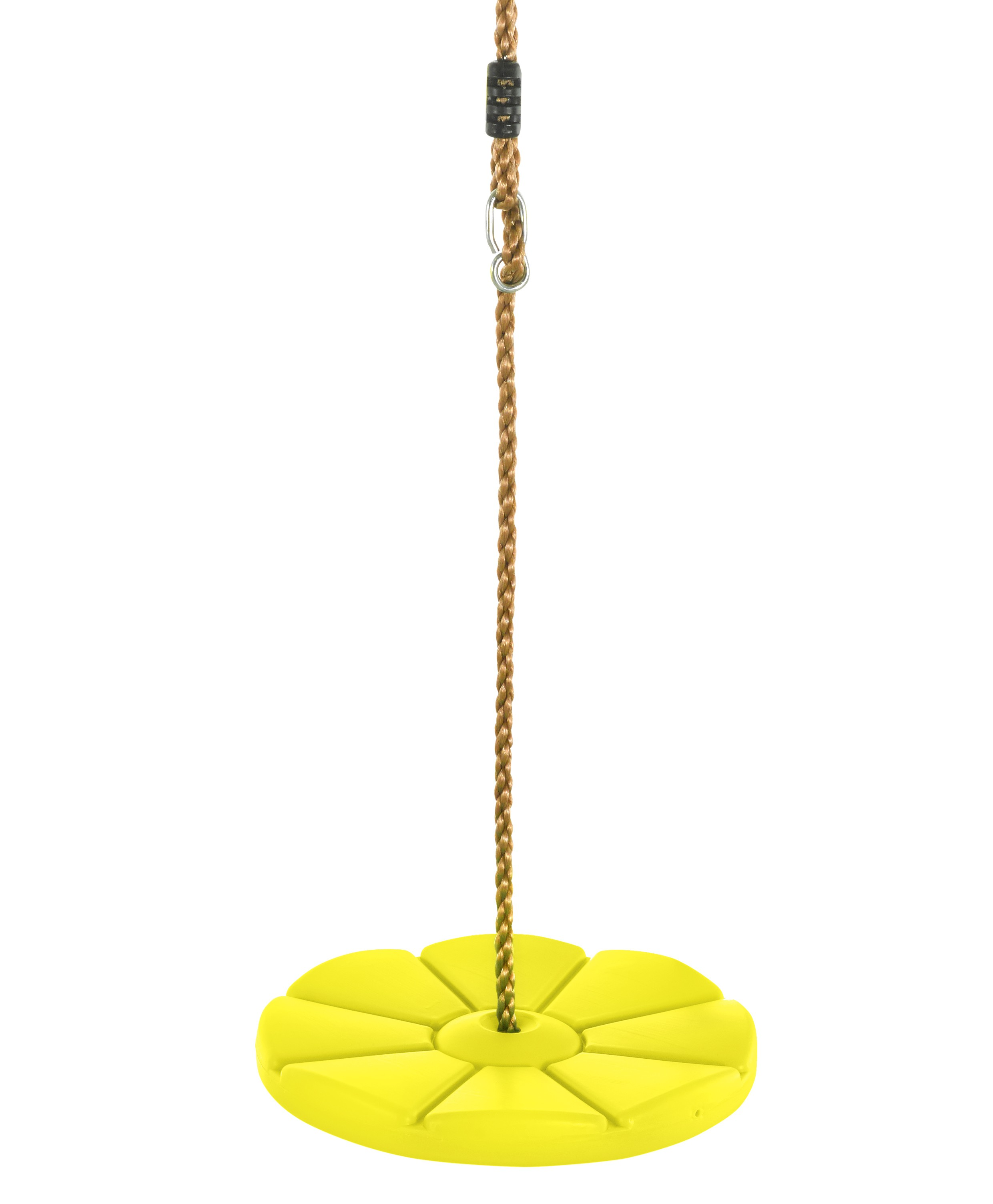 Swingan - Cool Disc Swing with Adjustable Rope - Fully Assembled - Yellow