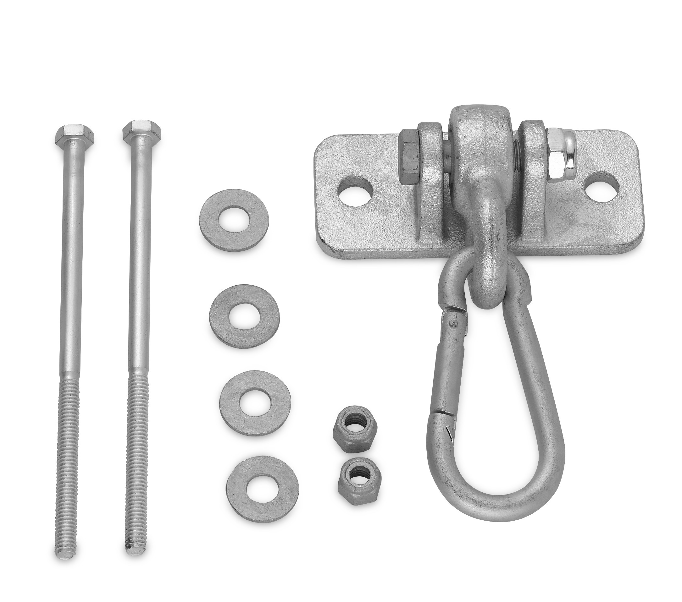 "Swingan - Heavy Duty Swing Hanger with 4"" Snap Hook - Mounting Hardware Included"