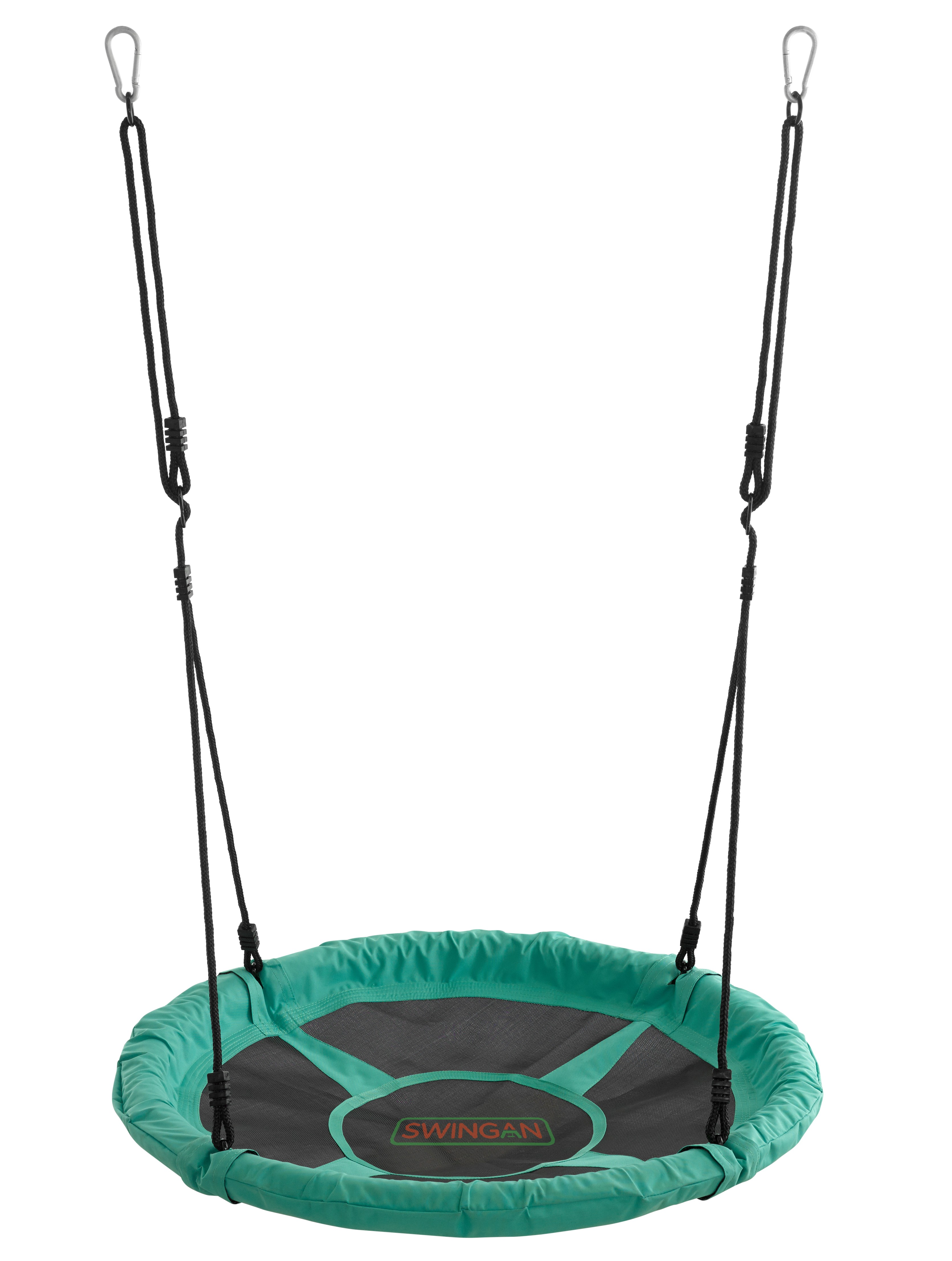 "Swingan - 37.5"" Super Fun Nest Swing with Adjustable Ropes - Green"