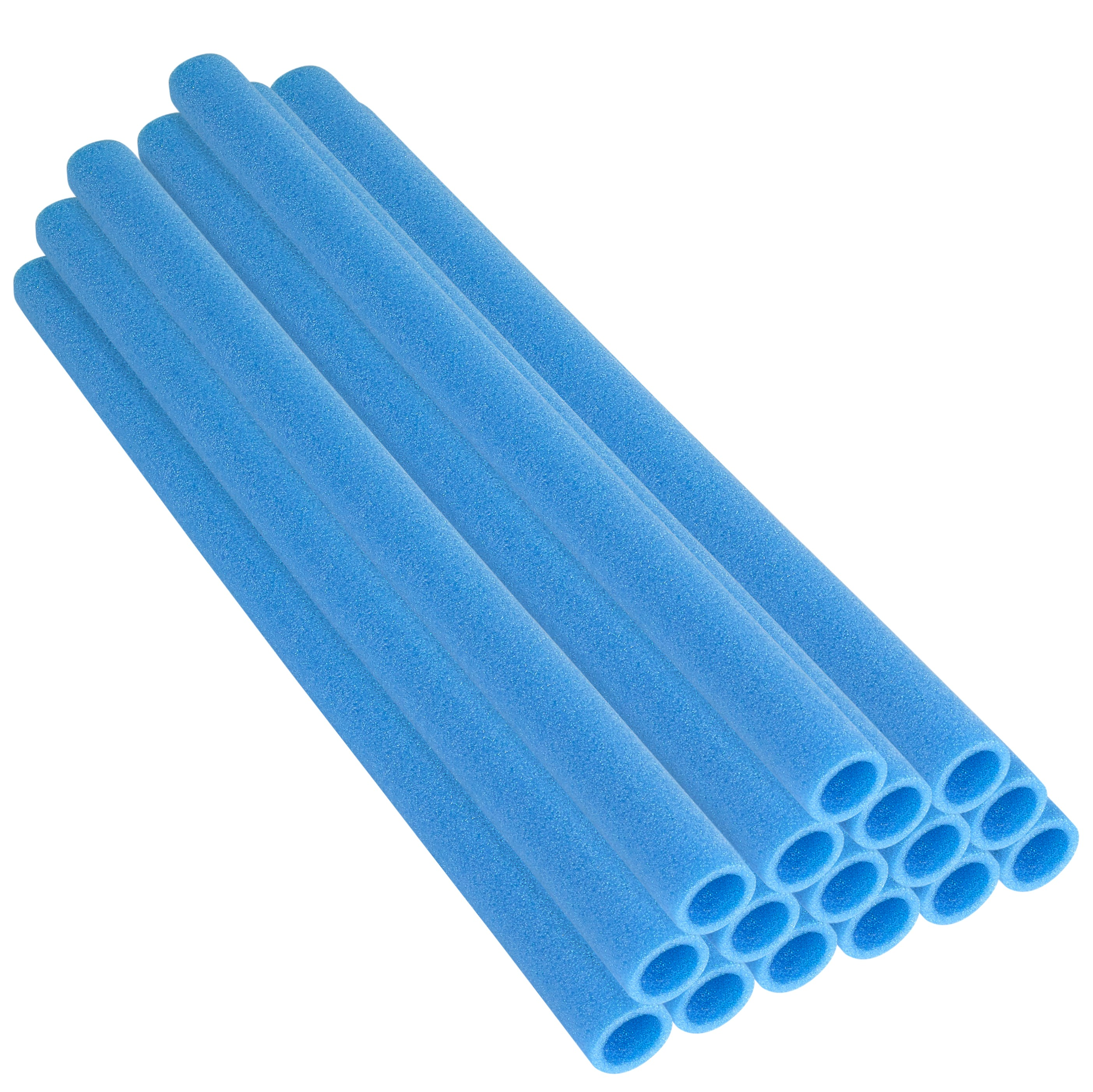 "37 Inch Trampoline Pole Foam Sleeves, fits for 1.5"" Diameter Pole - Set of 16 - Blue"