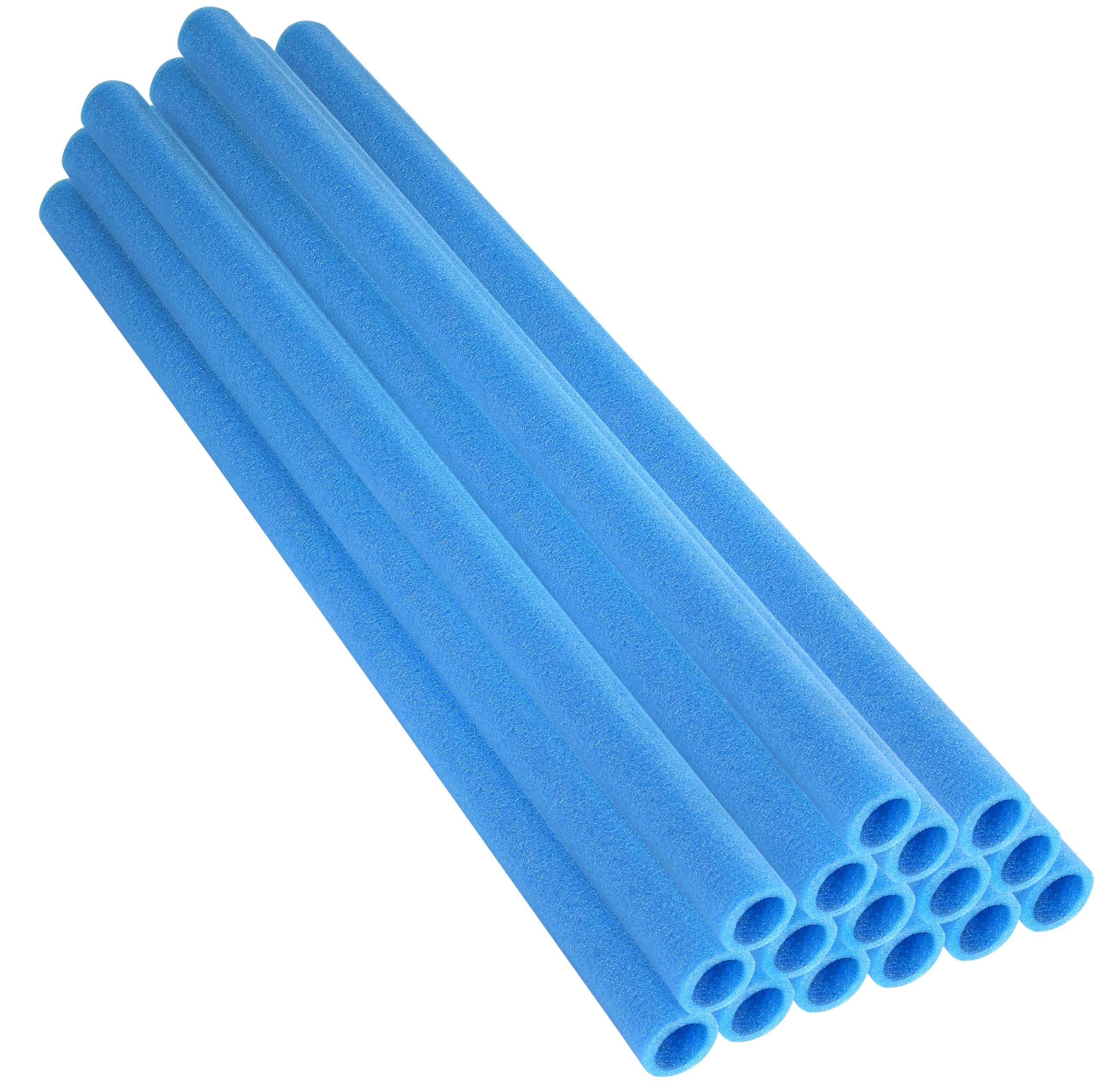 "37 Inch Trampoline Pole Foam Sleeves, fits for 1"" Diameter Pole - Set of 16 - Blue"
