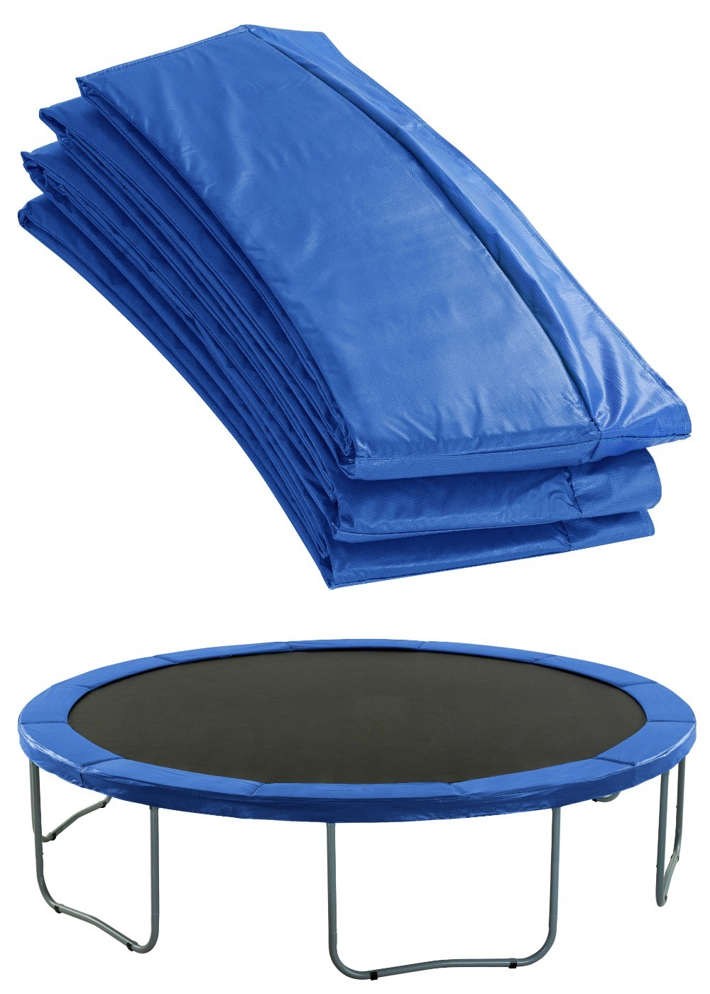 Premium Trampoline Replacement Safety Pad (Spring Cover) | Padding for 488cm 16ft Trampoline | Blue