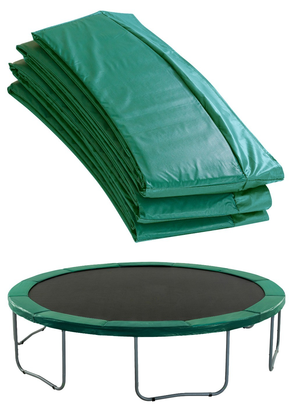 Super Trampoline Replacement Safety Pad (Spring Cover) Fits for 10 FT. Round Frames - Green