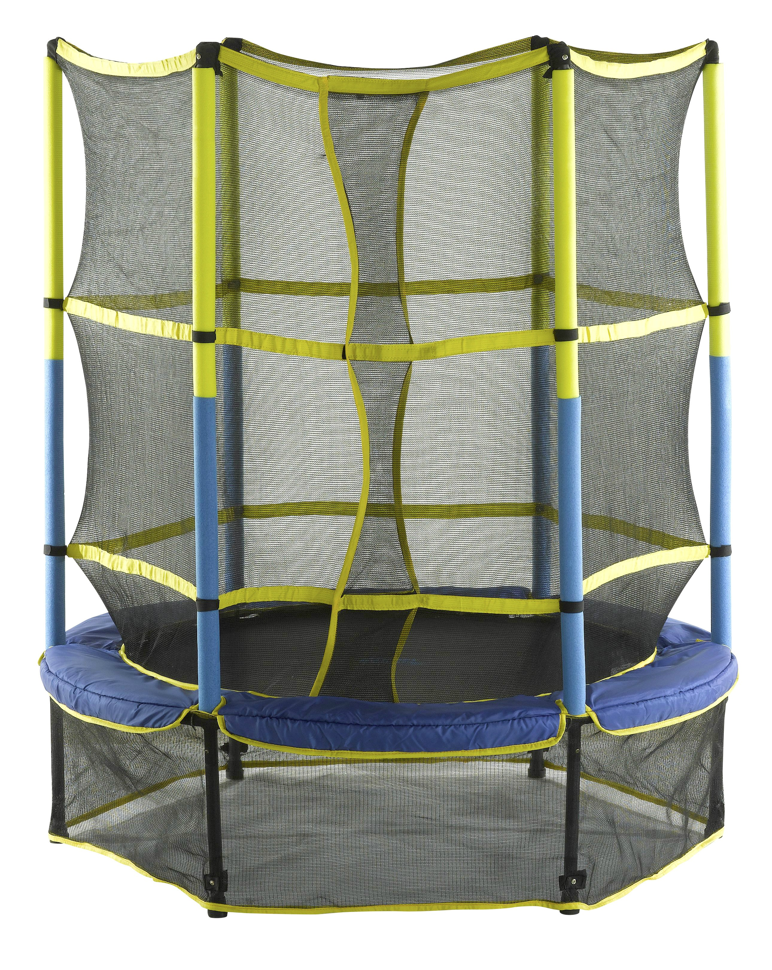 "Upper Bounce 55"" Kid-Friendly Trampoline & Enclosure Set equipped with ""Easy Assemble Feature"""