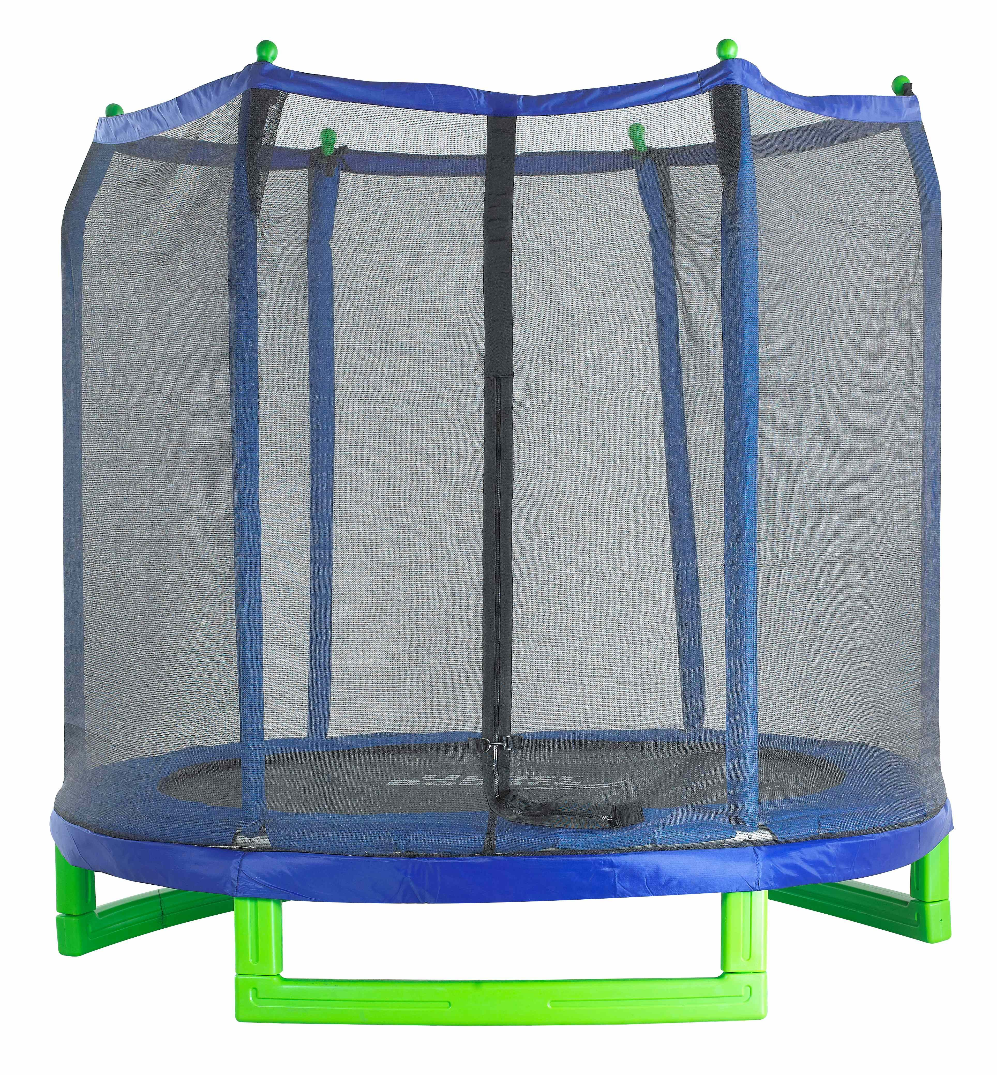 7Ft Large Trampoline and Enclosure Set | Garden & Outdoor Trampoline with Safety Net, Mat, Pad | Upper Bounce