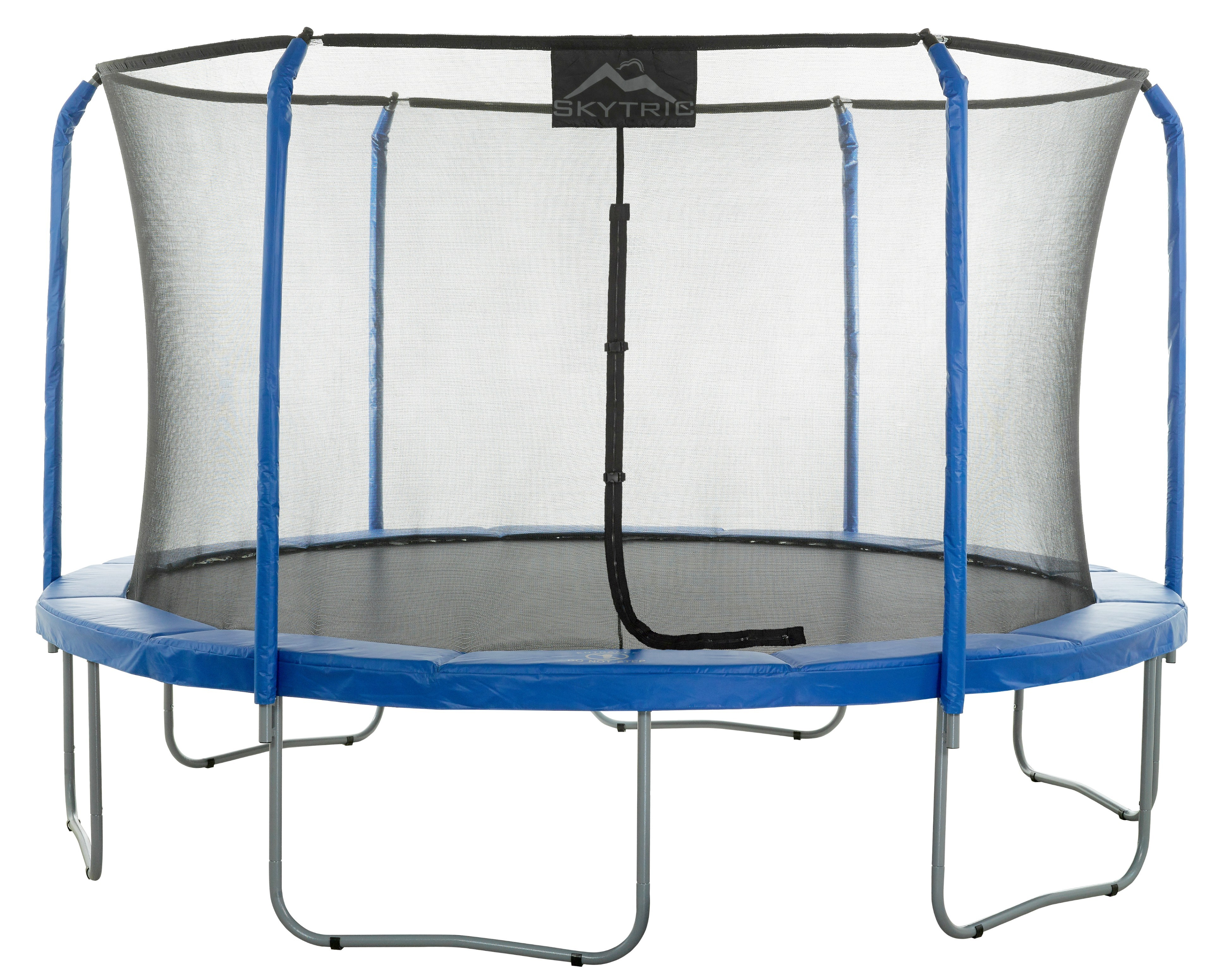 15Ft Large Trampoline and Enclosure Set | Garden & Outdoor Trampoline with Safety Net, Mat, Pad | Skytric