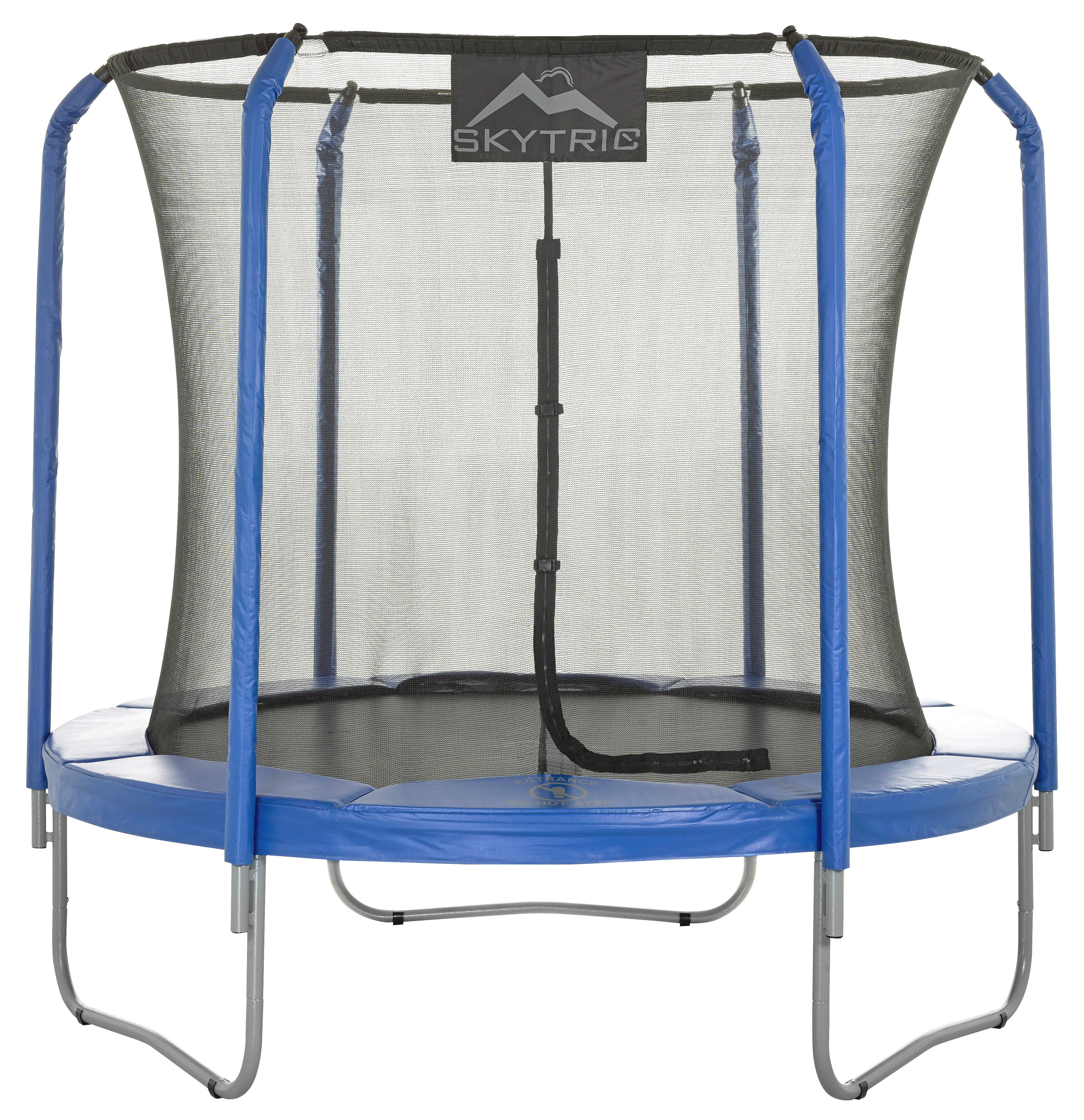 8Ft Large Trampoline and Enclosure Set   Garden & Outdoor Trampoline with Safety Net, Mat, Pad   Skytric