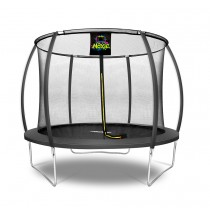 10Ft Large Pumpkin-Shaped Trampoline for Garden & Outdoor | Set with Top Ring Safety Enclosure | Black