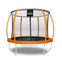 10Ft Large Pumpkin-Shaped Trampoline for Garden & Outdoor | Set with Top Ring Safety Enclosure | Orange