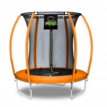6Ft Large Pumpkin-Shaped Trampoline for Garden & Outdoor | Set with Top Ring Safety Enclosure | Orange