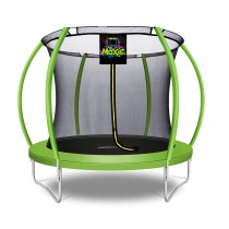 8Ft Large Pumpkin-Shaped Trampoline for Garden & Outdoor | Set with Top Ring Safety Enclosure | Green Apple