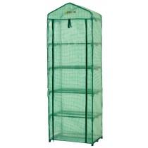 "Ogrow Small Portable Greenhouse - 5 Tier Mini Polythene Garden Greenhouse - 79"" H x 27"" W x 19"" D - Green"