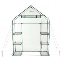 "Ogrow Portable Walk In Greenhouse - 3 Tier 6 Shelf Large PVC Garden Greenhouse - 77"" H x 56"" W x 29"" D"