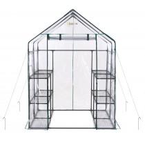 "Ogrow Portable Walk In Greenhouse - 3 Tier 12 Shelf Large PVC Garden Greenhouse - 77"" H x 56"" W x 56"" D"