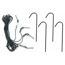 Deep Fastening Iron Garden Greenhouse Anchor Kit - Set of 4 Anchors & Guy Ropes