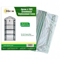 "4 Tier Mini PVC Plastic Greenhouse Replacement Cover - 19"" W x 27"" D x 62"" H - Clear"