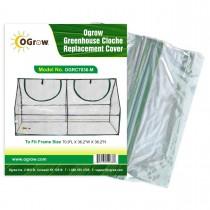 "PVC Plastic Cloche Greenhouse Replacement Cover - 71"" L x 36"" W x 36"" H - Clear"