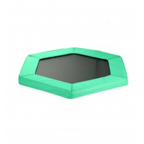 "Safety Pad for 127cm 50"" Hexagonal Rebounder Mini Trampoline - Pantone Green Oxford"