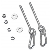 "Swingan - 6.5"" Screw Swing Hanger With 4"" Snap Hook - Set of 2"