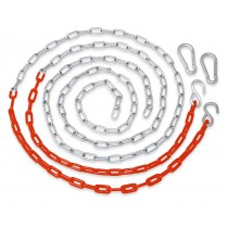 Swingan - Vinyl Coated Chain for Swing - Set of 2 - Orange