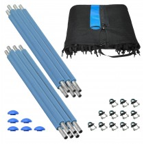 Trampoline Enclosure Set for 10 FT. Round Frames and 3 or 6 W-Shaped Legs - Includes: Net, Poles & Hardware Only