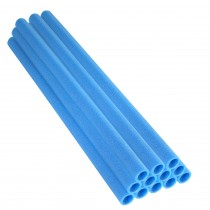 "33 Inch Trampoline Pole Foam Sleeves, fits for 1"" Diameter Pole - Set of 12 - Blue"