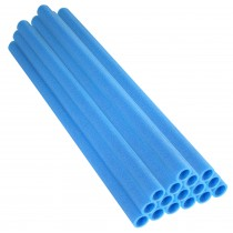 "37 Inch Trampoline Pole Foam Sleeves, fits for 1"" Diameter Pole - Set of 16 - Blue"