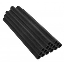 "37 Inch Trampoline Pole Foam Sleeves, fits for 1"" Diameter Pole - Set of 16 - Black"