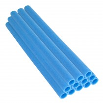 "44 Inch Trampoline Pole Foam Sleeves, fits for 1.5"" Diameter Pole - Set of 12 - Blue"