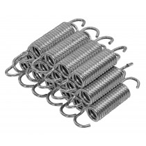 "3.5"" Trampoline Springs, Heavy-Duty Galvanized, Set of 15 (Spring Size from Hook to Hook)"
