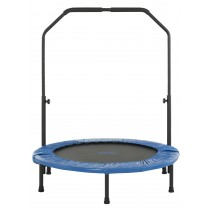 "Upper Bounce 40"" Mini Foldable Rebounder Fitness Trampoline with Adjustable Handrail"