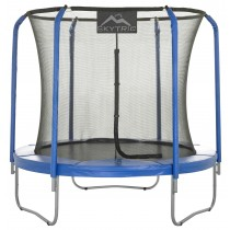 8Ft Large Trampoline and Enclosure Set | Garden & Outdoor Trampoline with Safety Net, Mat, Pad | Skytric