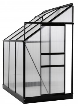 Ogrow 4x6 Ft. Walk In Lean-To Greenhouse - Large Aluminium Lawn & Garden Grow House - 25 Sq. Ft / 2.32 Mq - Clear