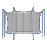 Trampoline Enclosure Nets