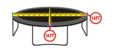 trampoline measurments